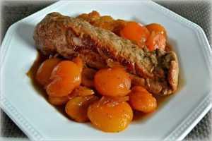 Filet mignon de porc aux abricots et au Monbazillac