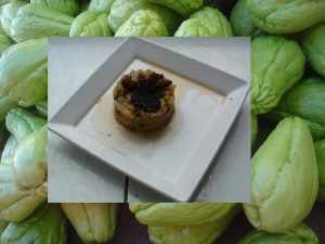 Recette Hachis de chayottes aux morilles et truffes