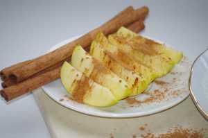 Recette pomme à la cannelle au micro-onde