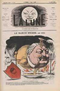 Caricature du Baron Brisse par André Gill