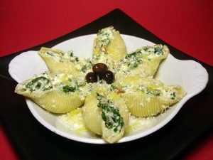 Recette Conchiglies farcies au fromage frais et aux fèves