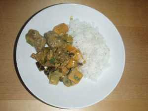 Recette Curry de porc à la mangue et aux poireaux