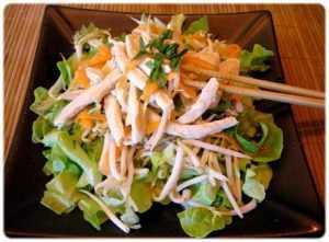 Recette Salade chinoise au poulet