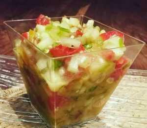 Recette Salade de tomates et concombres sauce menthe