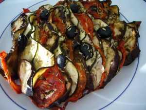Recette Tian de légumes à la mozzarella