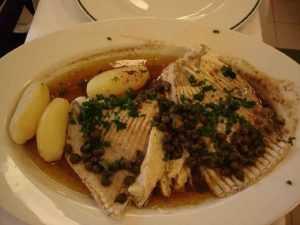 Recette Ailes de raie sauce au beurre noir