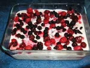 Recette Tiramisu framboises ou autres fruits rouges