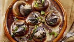 Recette Coquilles de champignons aux escargots