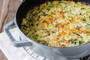 Recette Gratin saumon-courgette-riz
