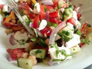 Recette Salade colorée aux pois chiches