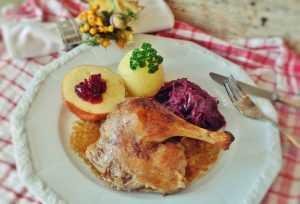 Recette Canard farci aux marrons et aux fruits secs