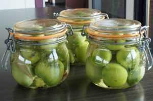Recette Tomates vertes au vinaigre
