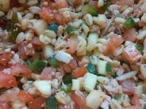 Recette Salade de blé aux légumes et au thon