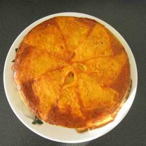 Recette Tatin au thon, tomate et mimolette
