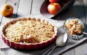 Recette Crumble pommes reinettes au miel et romarin