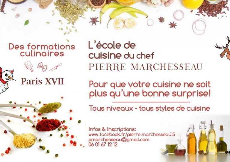 Ouverture cours de cuisine Paris XVII