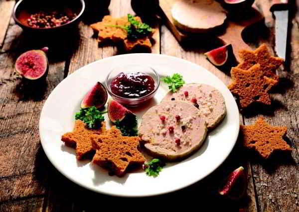 Foie gras pain d'épice et chutney