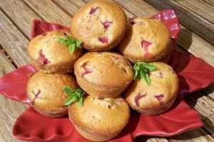 Recette Muffins aux fraises et à la menthe