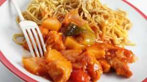 Recette Nouilles chinoises Poulet curry et ananas