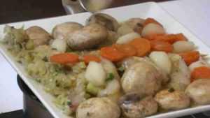Recette Lotte au beurre d'échalote et ses petits légumes