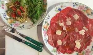 Carpaccio de bœuf au parmesan