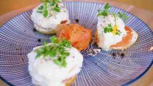 Recette Blinis de saumon à la crème de raifort