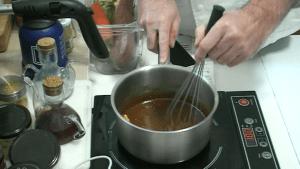Recette Sauce caramel au beurre salé et pralin