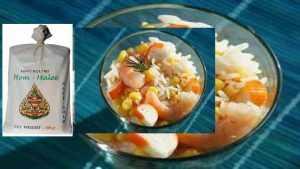Salade de riz Thaï aux crevettes et surimi