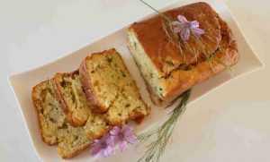 Recette Cake chèvre du Poitou, noix et raisins