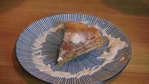Gâteau de crêpes au thé matcha et crème de mascarpone